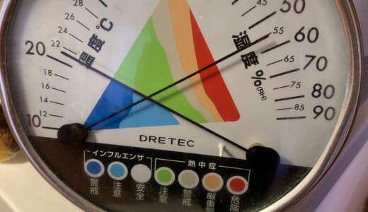 温度&湿度計でコロナ対策